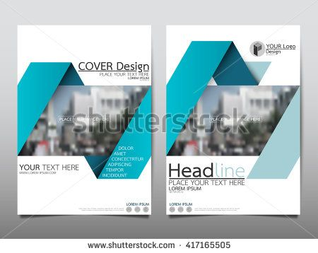 Blue Ribbon Annual Report Brochure Flyer Design Template Vector