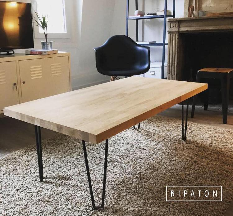 Pied En Epingle Le Costaud En Acier Pied De Table Design