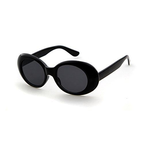 38f85e4c4e JUCOO Clout Goggles Oval Sunglasses Mod Style Retro Thick Frame Kurt Cobain  Inspired Sunglasses With Round Lens Vintage