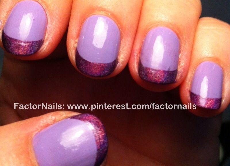 Lila and dark purple french