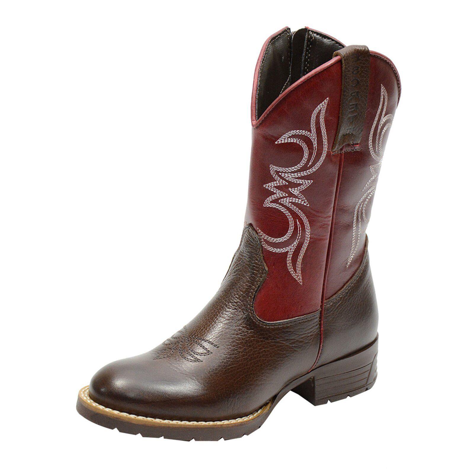 Botina Texana Infantil Atron Shoes Kids 3807 Marrom | Bota