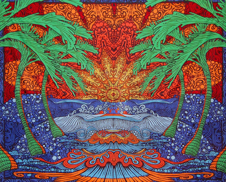 Amazon Com Sunshine Joy 174 3d Epic Surf Wave Tapestry Huge