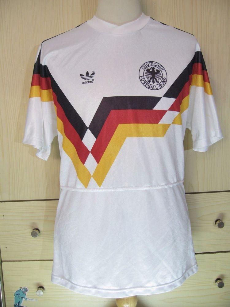 877bc04e0 WEST GERMANY WORLD CUP 1990 ADIDAS HOME VINTAGE FOOTBALL TRIKOT SOCCER SHIRT  M | eBay