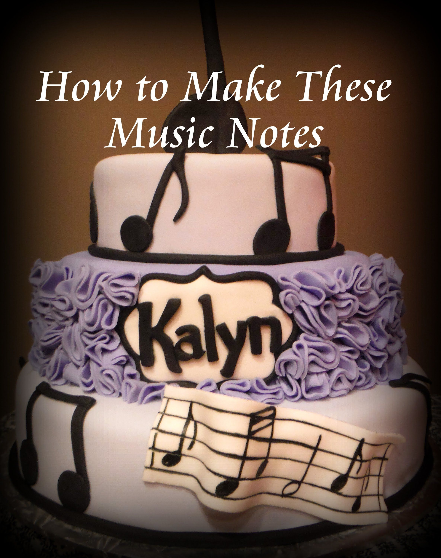 Easy Fondant Music Notes