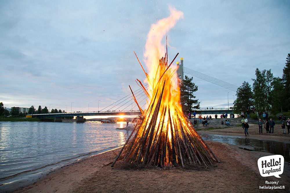 Midsummer Day Celebration in Rovaniemi. Rovaniemi