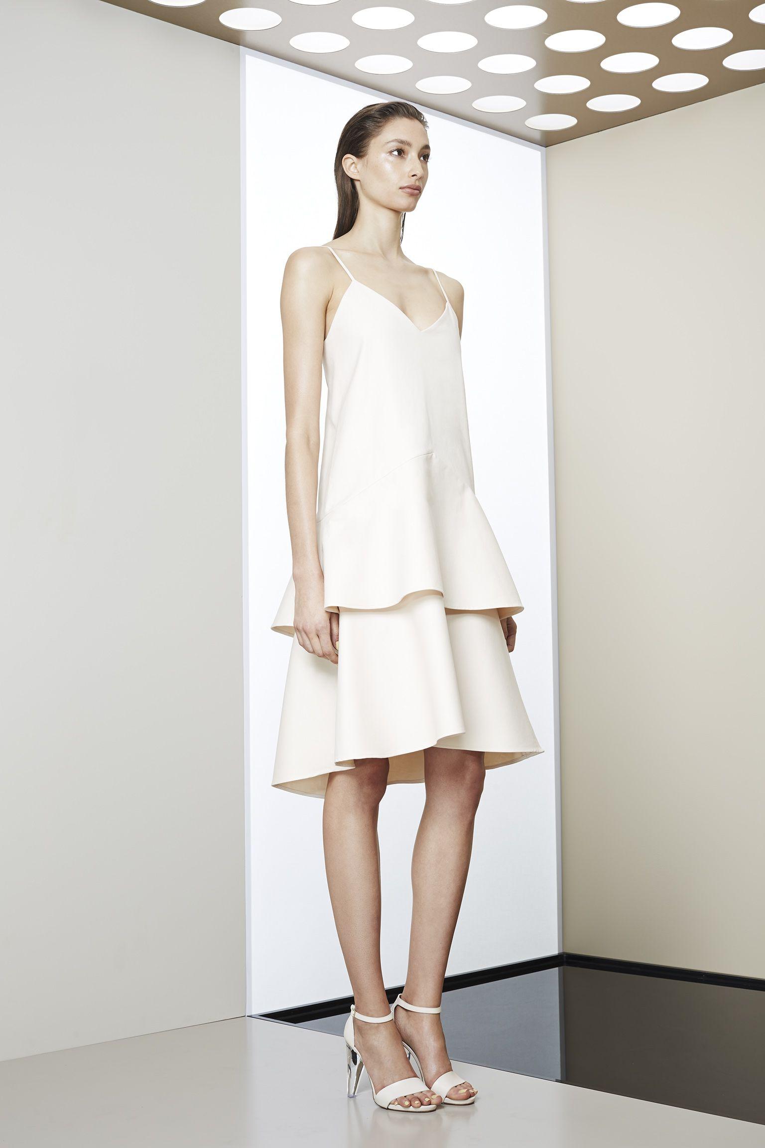 e1cdca2c94e Scanlan Theodore Summer 2014- Organic Cotton Tiered Dress