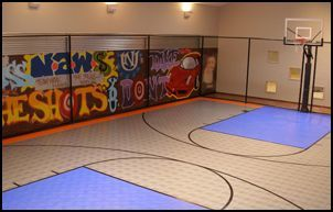 Custom Indoor Basketball Court By Homecourt Sports Basketball Court Backyard Indoor Basketball Court Backyard Basketball