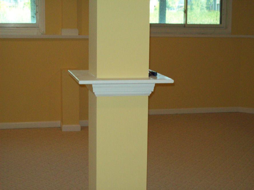 Basement Post Drink Ledge Would, Basement Pole Drink Shelf