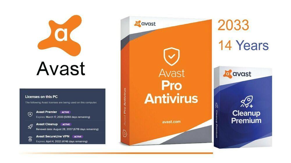 Avast Premier 2019 + Avast Cleanup 3 PC - 14 Years ...
