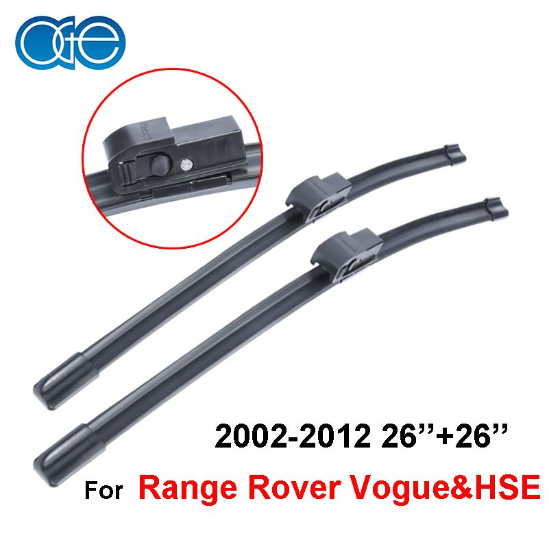26 26 Pair Windshield Wiper Blades For Land Rover Range Rover Vogue Amp Hse 2002 2012 Rubber Windscreen Car Accessories Cpz104