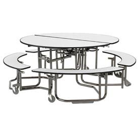Astonishing Uniframe Mobile Cafeteria Table Round White Nebula Top Machost Co Dining Chair Design Ideas Machostcouk