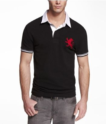 9bdd4d85 FITTED LARGE LION RUGBY COLLAR POLO | Express | Looks for My Love in ...