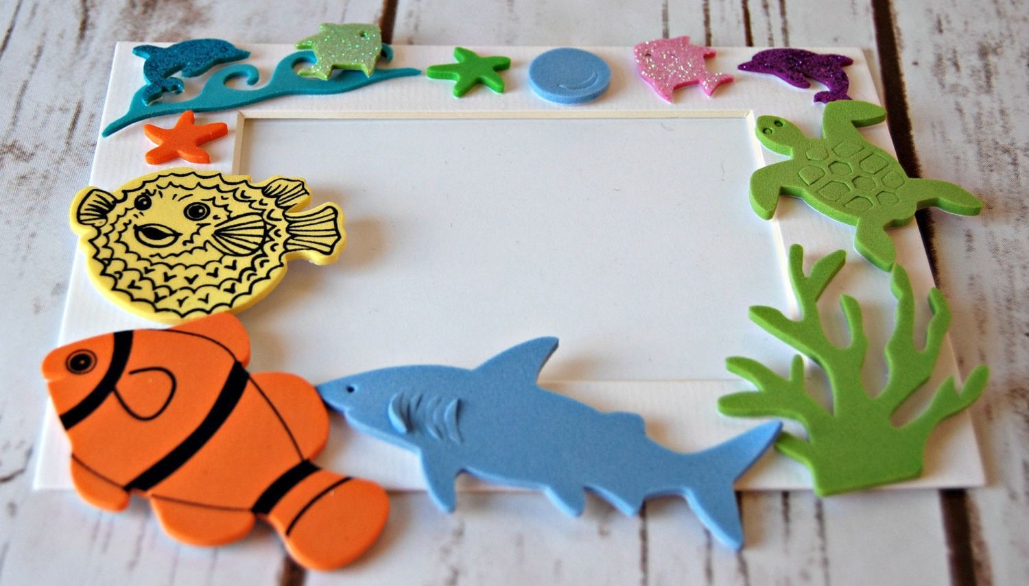 Under The Sea Themed Photo Frame Craft Kit Bible Story Crafts