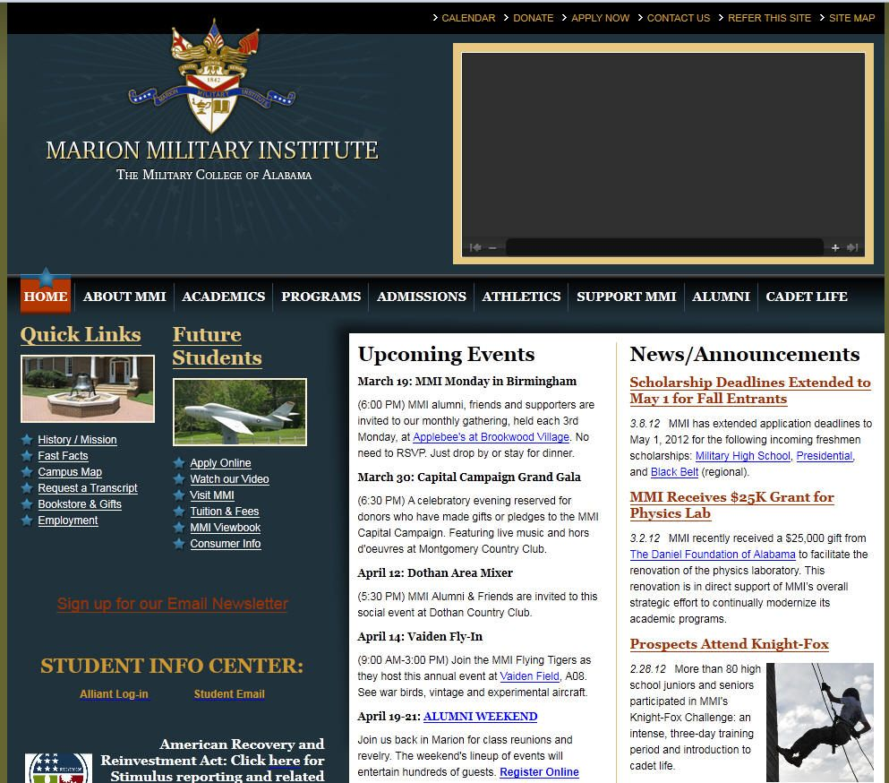 Marion Military Institute Often Abbreviated With The Initialism