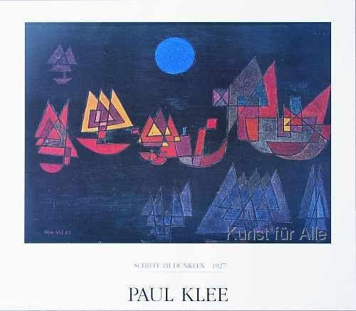 Paul Klee - Schiffe im Dunkeln