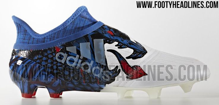 The white, blue and red Adidas X 16 PureChaos UCL Dragon boots introduce an  extremely bold look, inspired by the Champions League final in Cardiff.