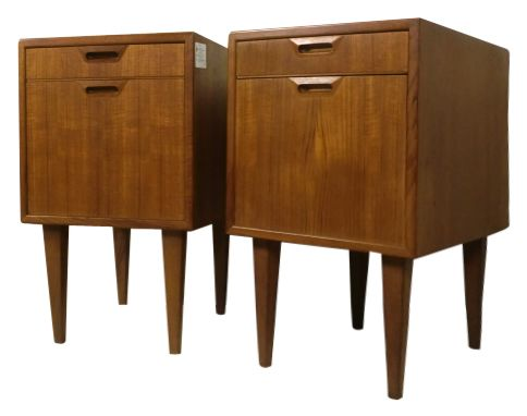 PAIR OF TEAK DANISH MODERN FILE CABINETS   Use For Sheet Music, Piano