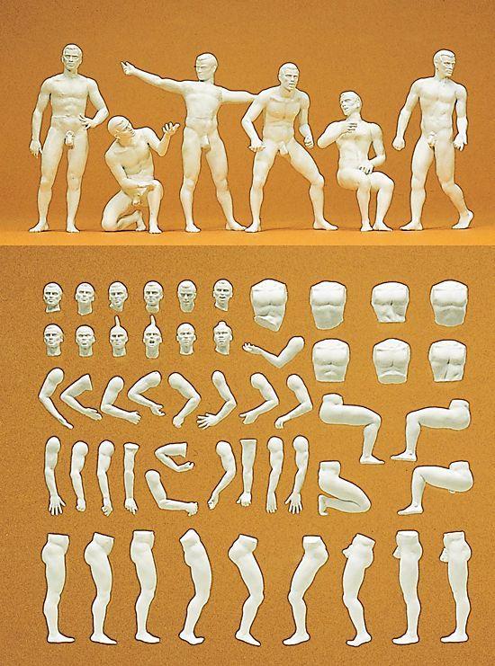 Preiser HO Figures (Unpainted) 16400 Unpainted Figure Set