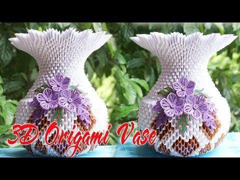 How To Make 3d Origami Flower Vase V1 Flor De Origami 3d Florero