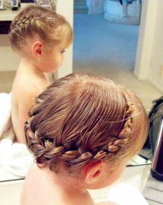 Little Girl Crown Braid Google Search Kids Hairstyles Little