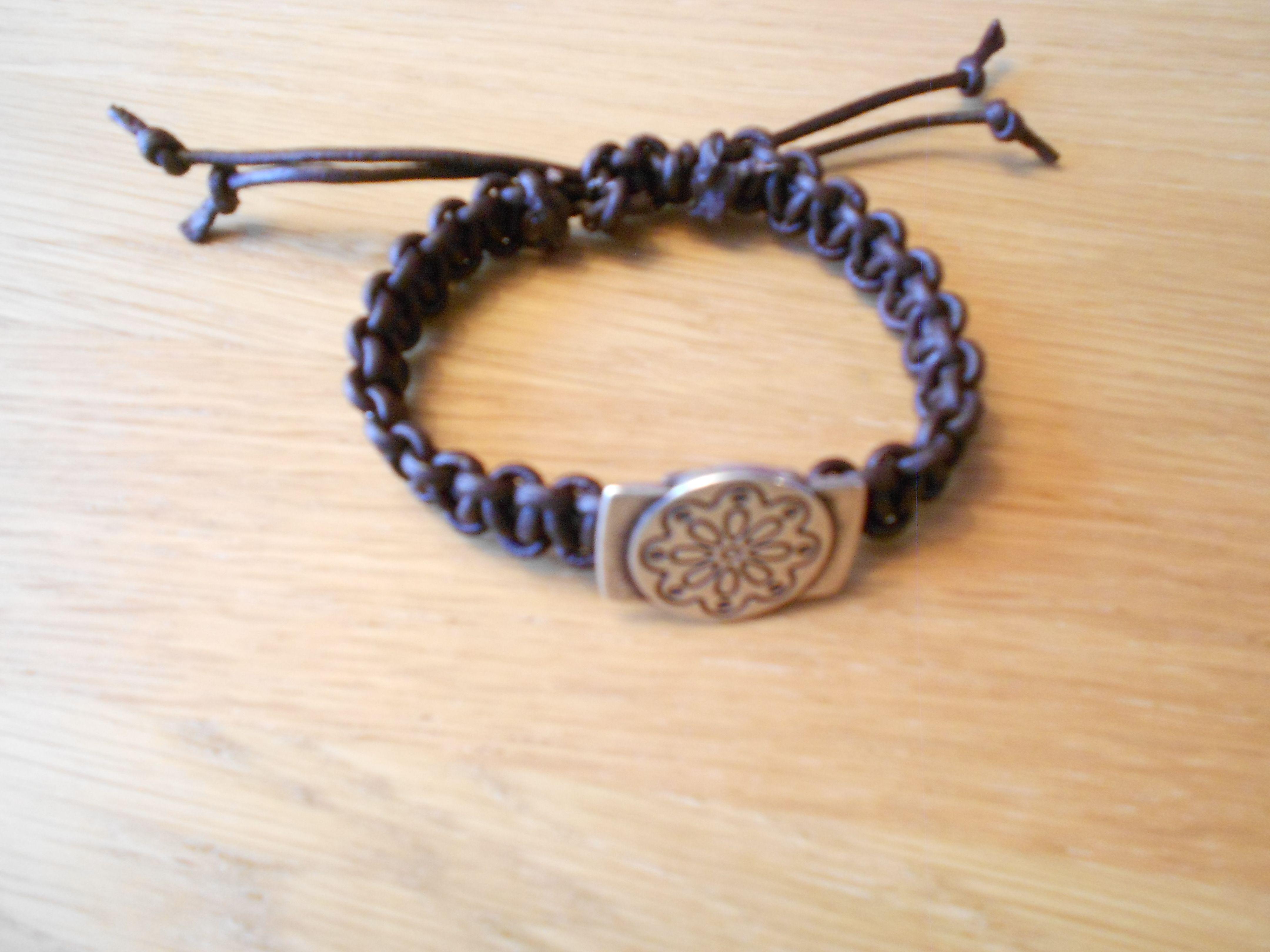 bracelet; leather cord