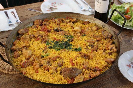 Traditional Spanish Food Arroz Murciano Gastronomia