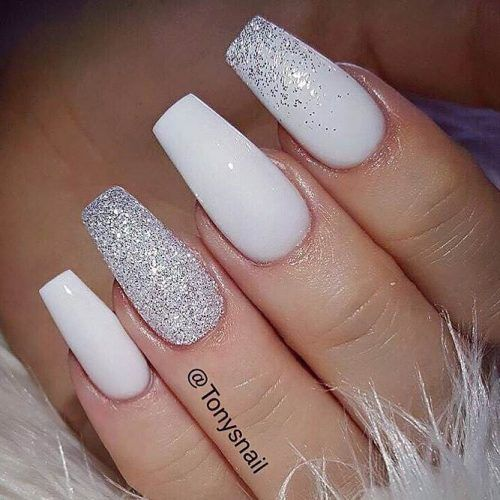 Stunning White Coffin Nail Designs picture 5 - 33 Fancy White Coffin Nails Designs Pinterest White Coffin Nails