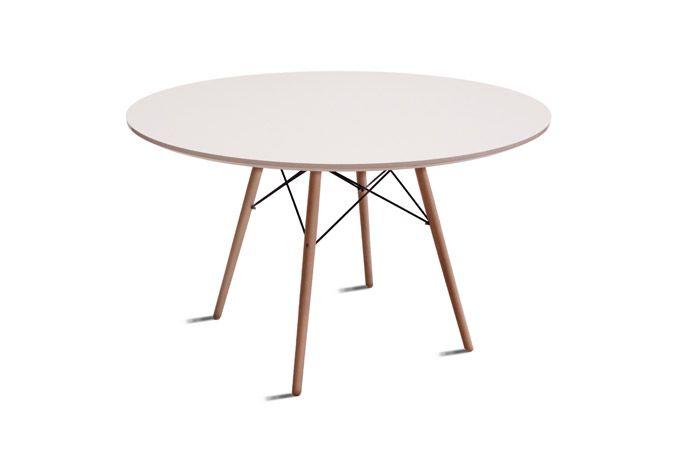 Mesa de comedor de la colecci n river en color blanco for Mesa xert moblerone