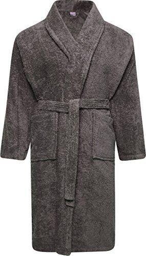 Adore Home Mens and Ladies 100% Cotton Terry Towelling Adults Shawl Collar  Bathrobe Dressing Gown Bath Robe Heavy 4ebcfb601