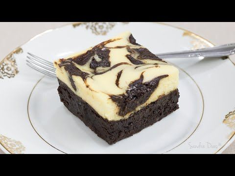 Brownie Cheesecake: brownie denso e chocolatudo c/ cheesecake cremoso | Receita Sandra Dias - YouTube