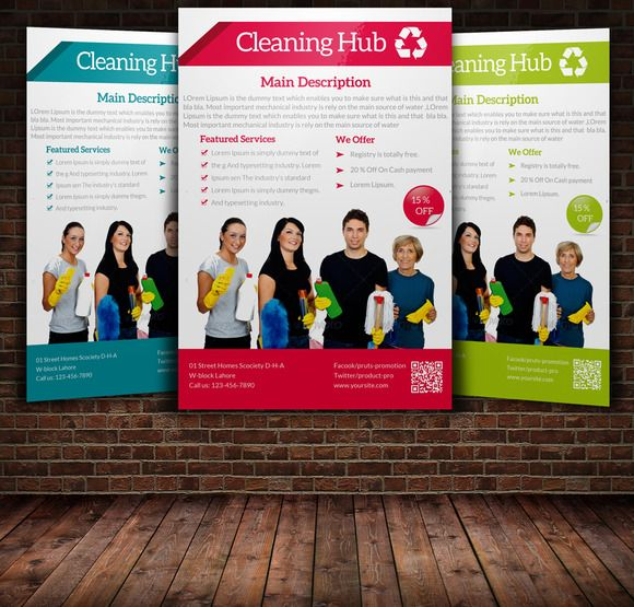 House Cleaning Services Flyer Templa by Leza on Creative Market - house cleaning flyer template