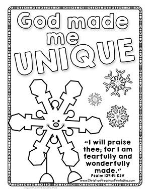 Free Bible Verse Coloring Pages For Winter Snow Sunday School