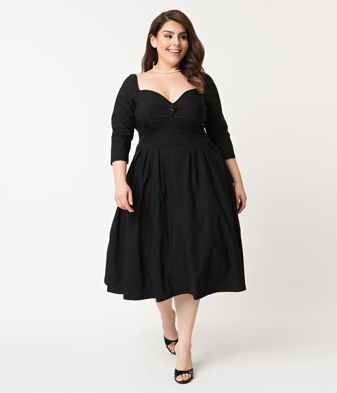 16+ Plus size black swing dress ideas