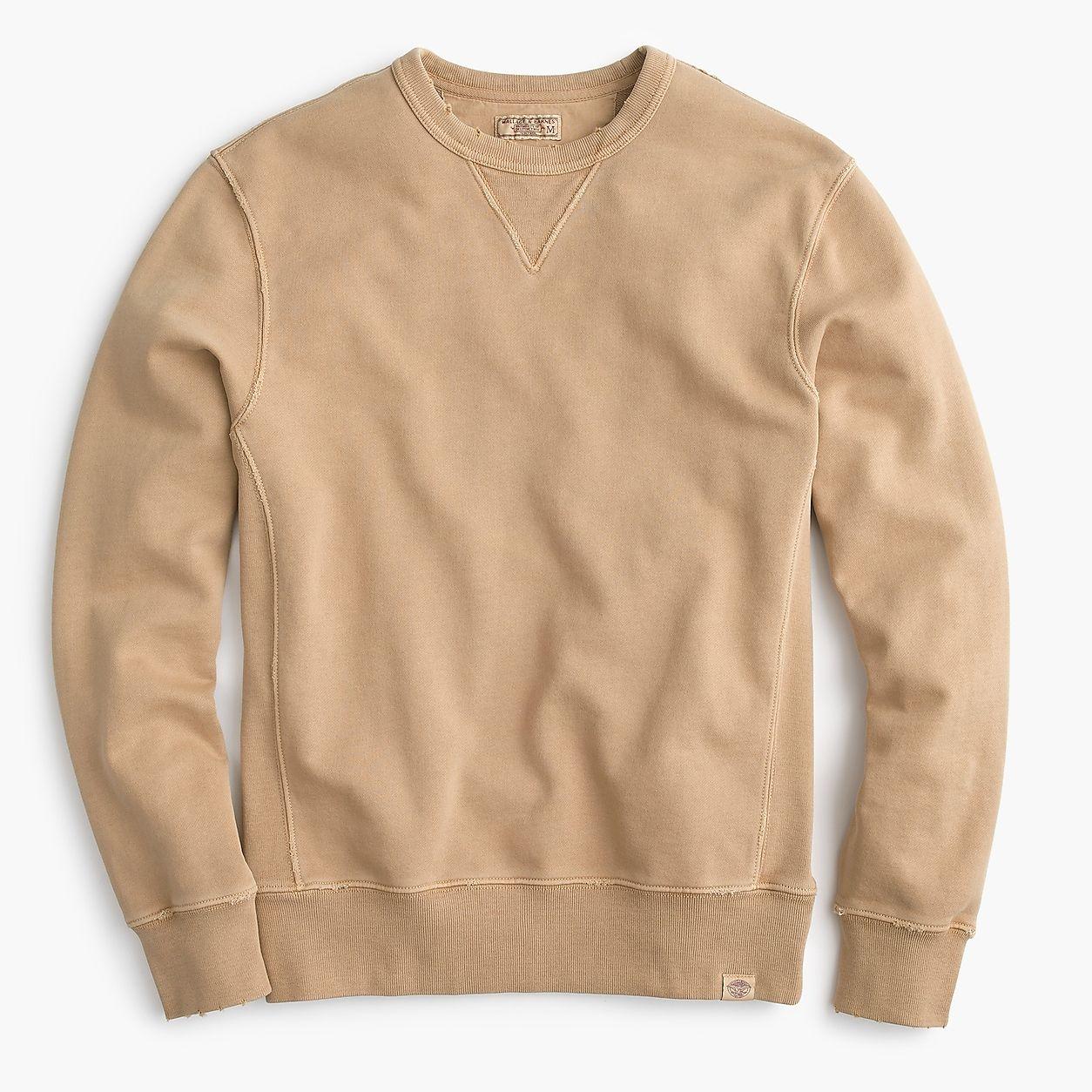 Wallace Barnes Garment Dyed Crewneck Sweatshirt Crewneck Sweatshirt Outfit Sweatshirts Long Sleeve Tshirt Men [ 1254 x 1254 Pixel ]