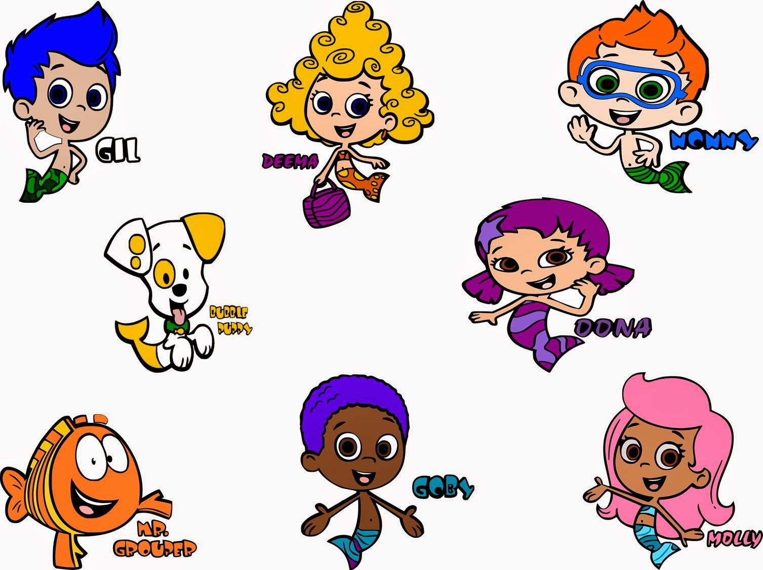 Bubble guppies character rental - Crafting With Meek Bubble Guppies Svg S