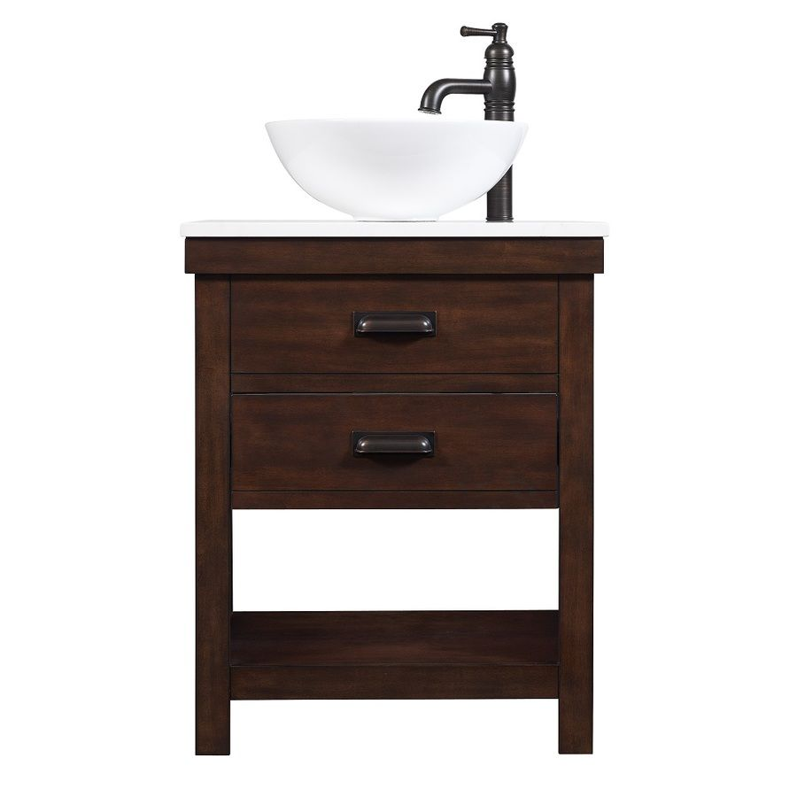 Breathe new life into your powder room or guest bath with for Powder bathroom vanities