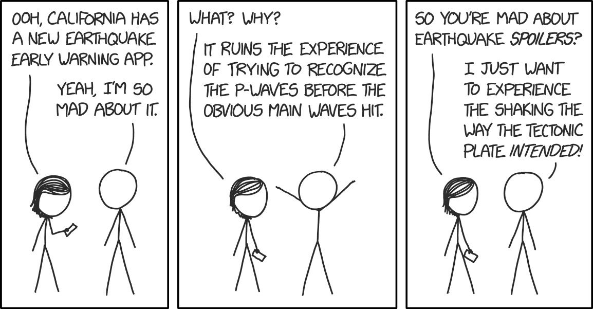 Earthquake Early Warnings Https Xkcd Com 2219