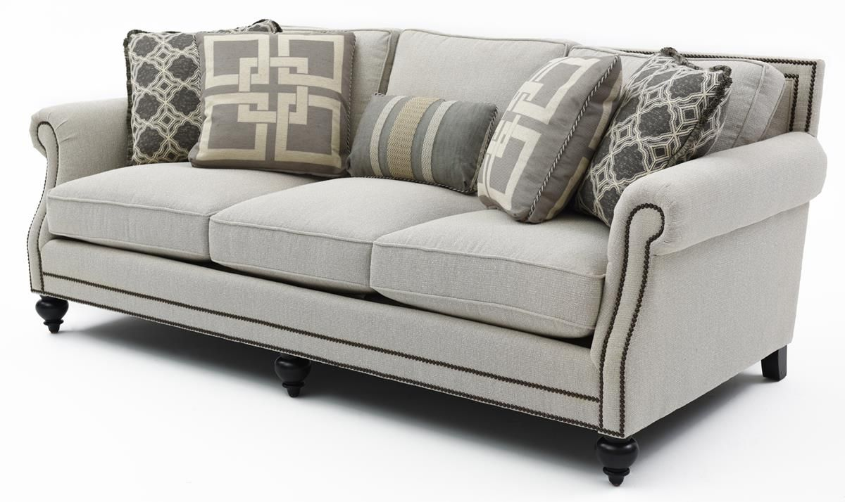 Bernhardt Brae Sofa 1499 Delivery Suggested Retail 3216 Dimensions 92 W 44 D 35 H Includes Down Filled Throw Pillows Reversible Spring