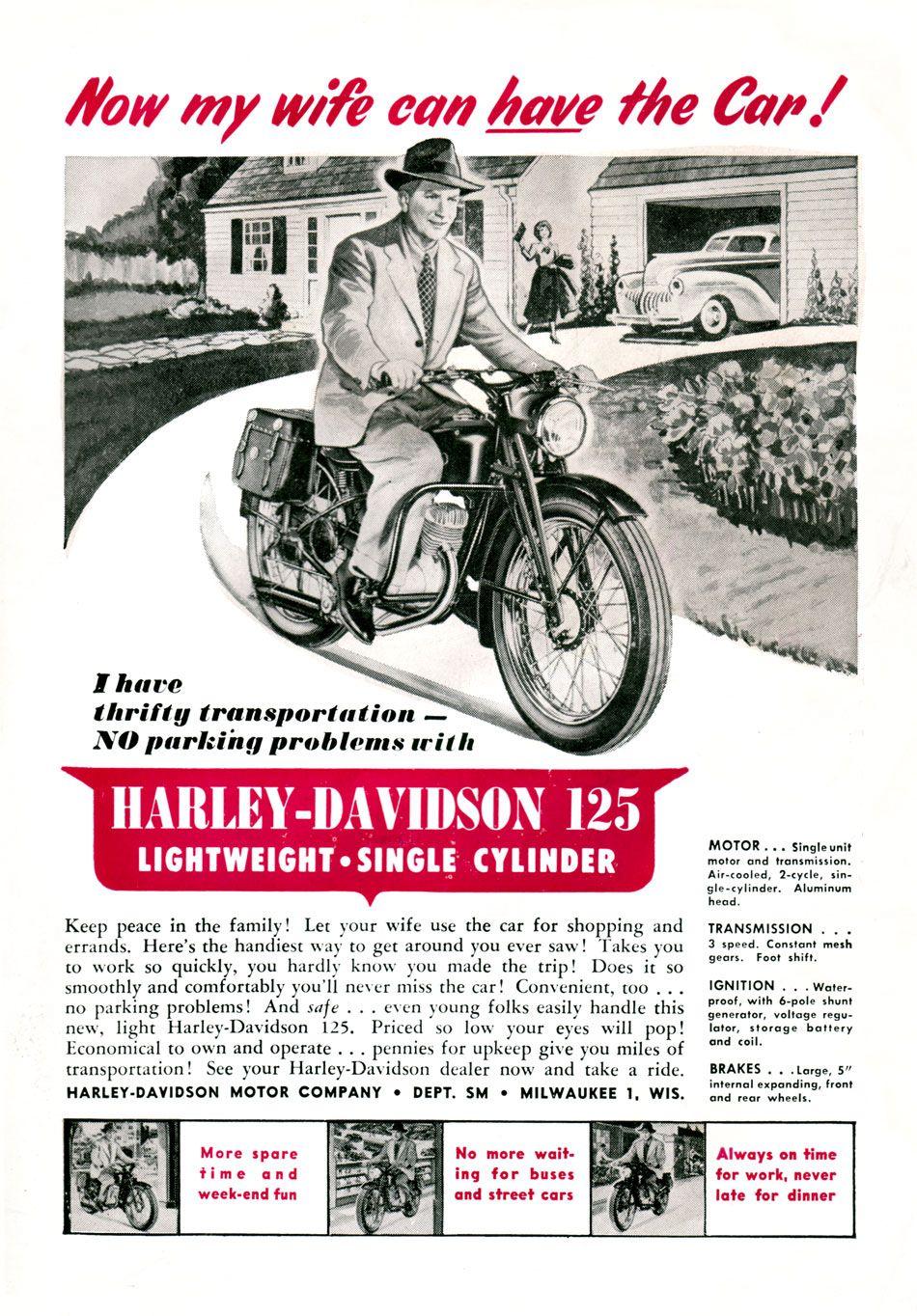Harley Davidson Ad From 1958 Harley Davidson Posters Harley Davidson Vintage Harley
