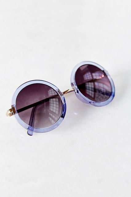 Under-$25 Beach Day Essentials To Scoop Up Now #refinery29  http://www.refinery29.com/cheap-beach-wear-accessories#slide-21  Round out your beach look with these circular sunnies.