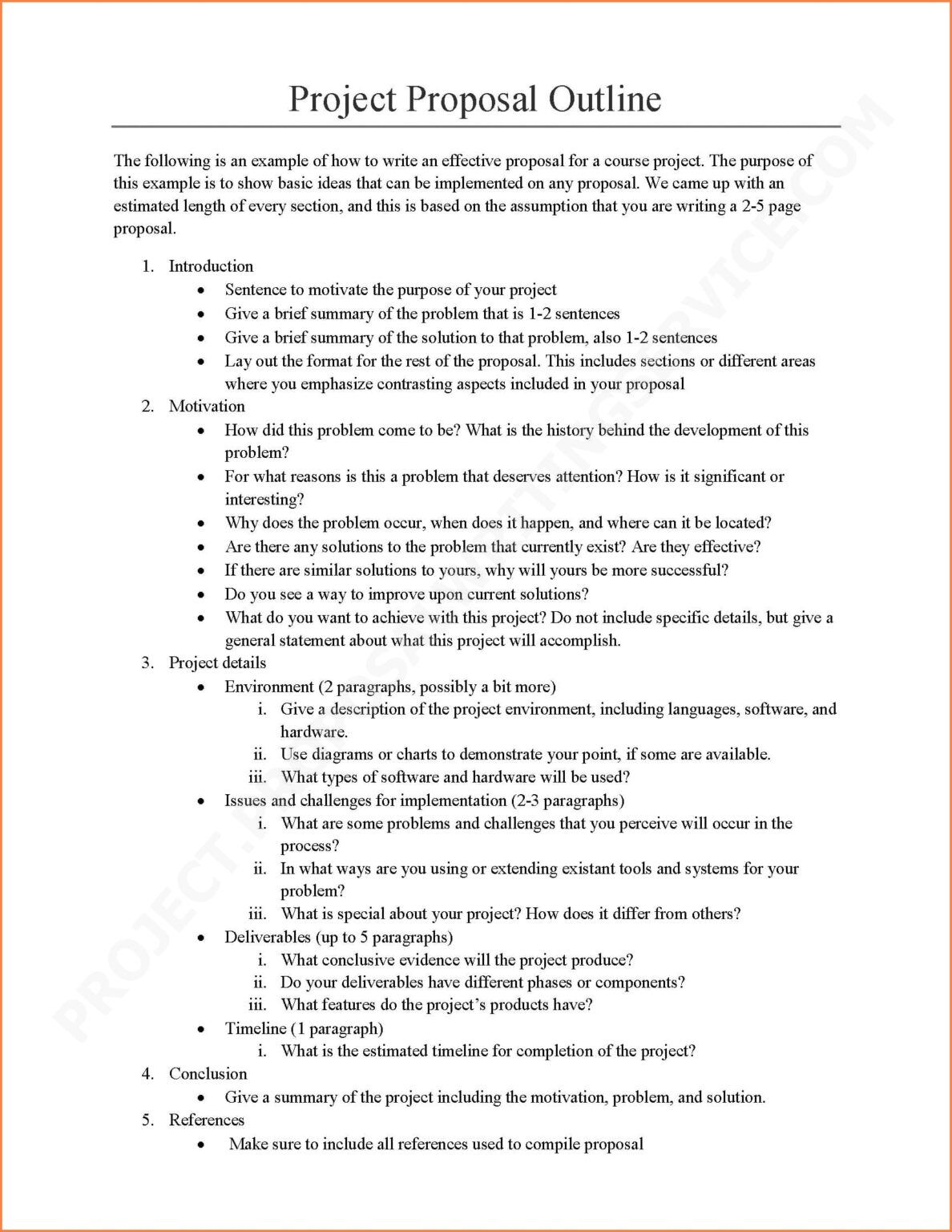 business project report sample doc