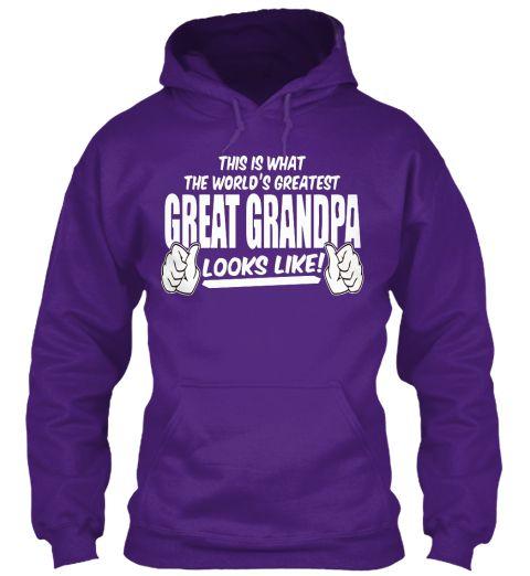 Great Grandpa Christmas Day Hoodie Purple T-Shirt Front