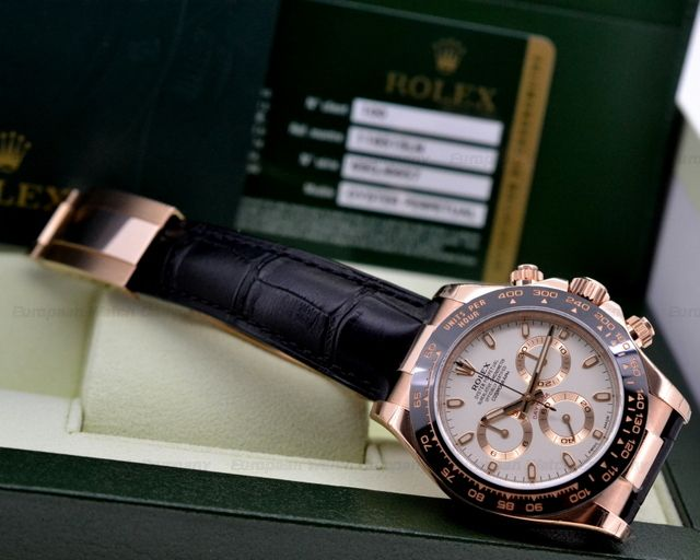 Rolex Cosmograph Daytona in 18K Rose Gold with an Ivory Dial Reference 116515LN