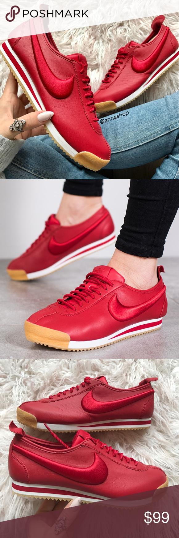 Nwt Cuero Nike Cortez Si El Cuero Nwt Rojo  39c63d