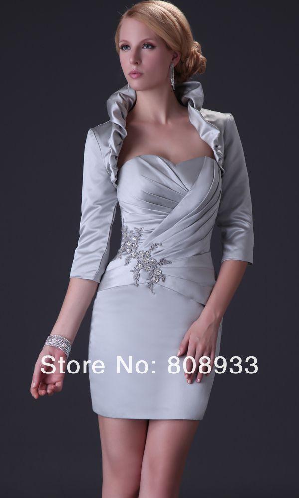 Vestidos de fiesta gris corto