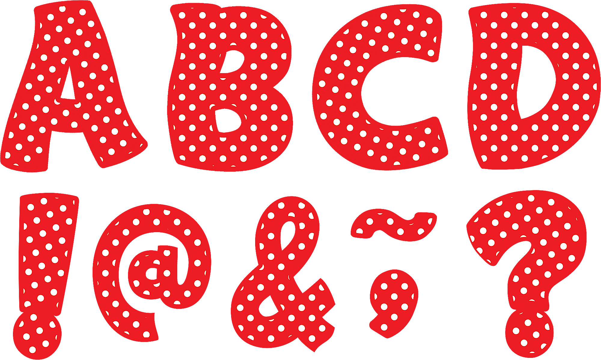 Red Polka Dots Funtastic Font 3 Quot Magnetic Letters Works