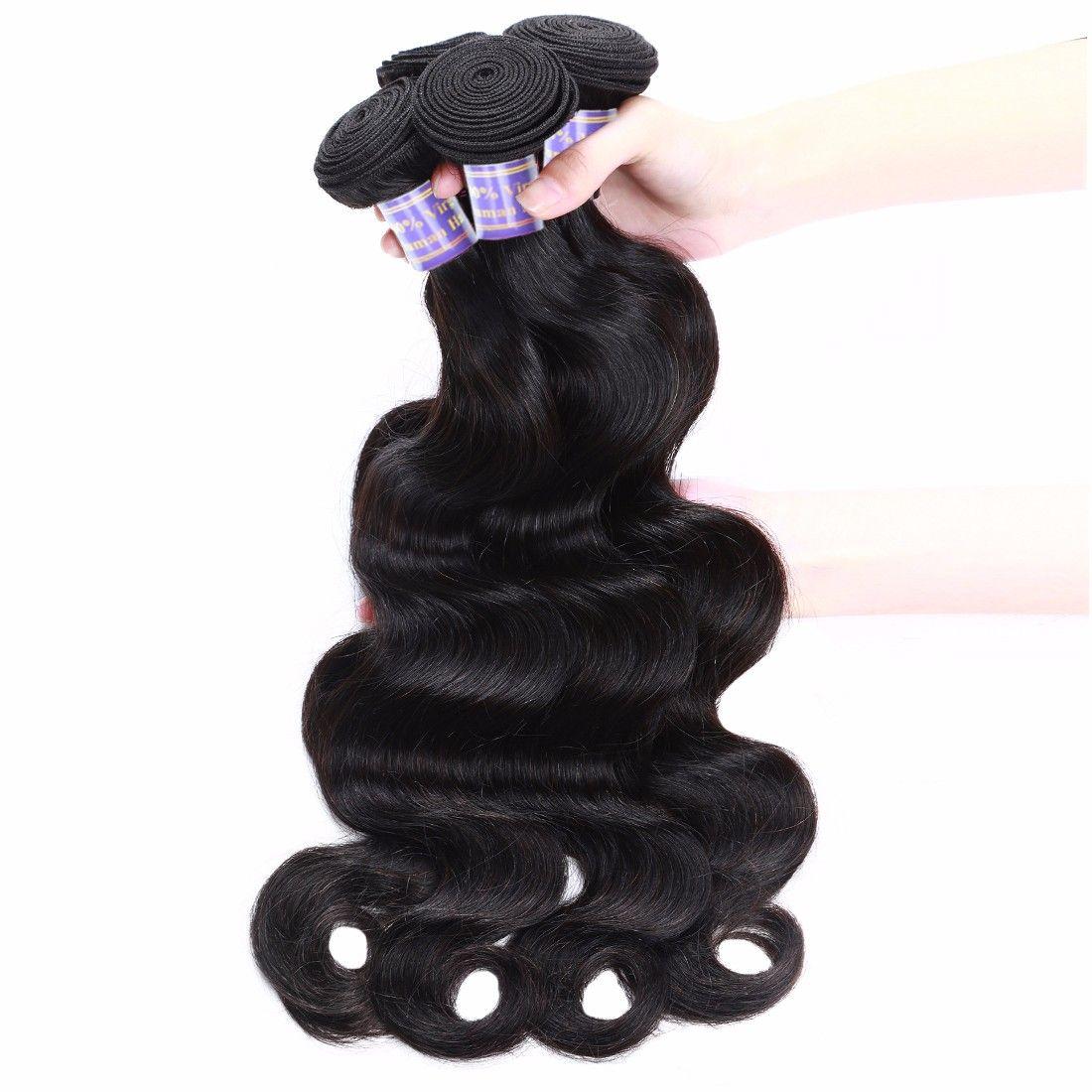 Allove 8A Hair Brazilian Body Wave Hair 3 Bundles  lot Unprocessed Human Hair Extensions Brazilian Virgin Hair Body Weave 1B #Brazilianvirginhair #virginhair