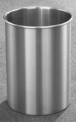 4 Gallon 9 X 14 Open Top Home Office Wastebasket Satin Aluminum
