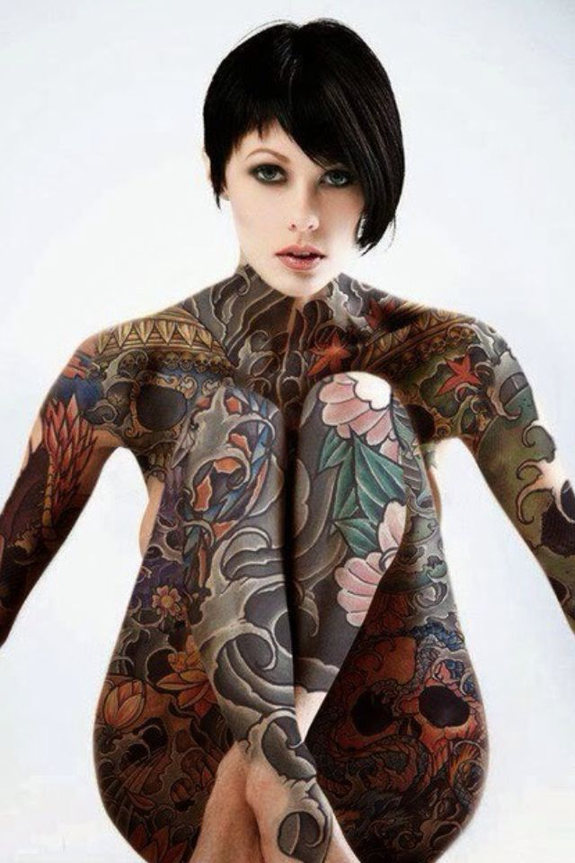Talk about full coverage ouch women 39 s japanese for Japanese body tattoo