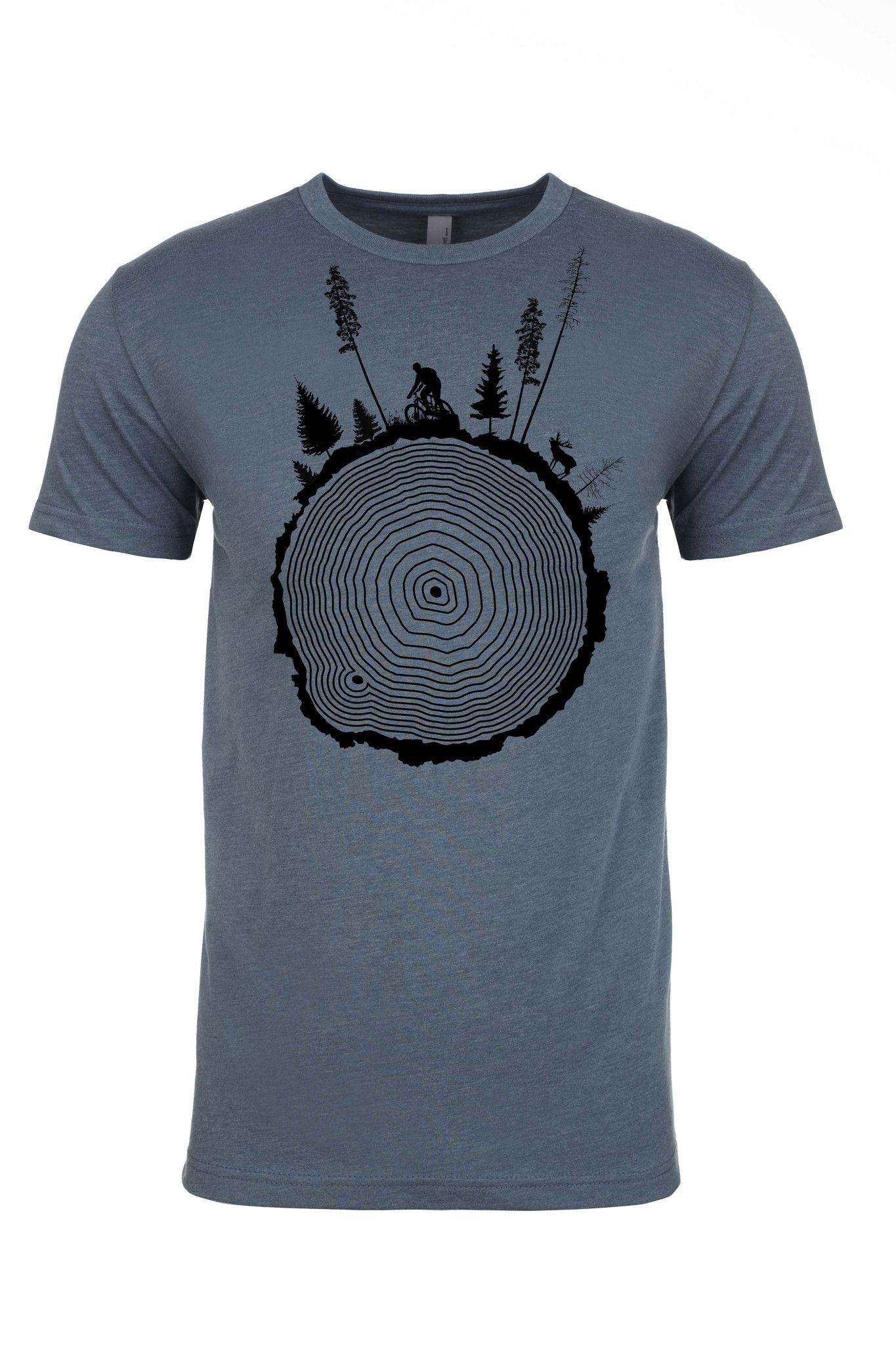 Tree Ring Mountain Bike T-Shirt   ลายเสื้อ   เสื้อผ้า ...